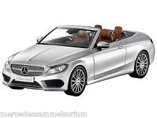 Mercedes benz a 205 C clase cabriolet con SoftTop iridiumsilber 1:18 nuevo embalaje original