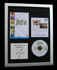 MICHAEL CAINE+SIGNED+FRAMED+ALFIE+CARTER+ITALIAN=100% AUTHENTIC+FAST GLOBAL SHIP