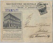 63999 - ITALIA  Regno - STORIA POSTALE:  BUSTA PUBBLICITARIA  Genova 1925