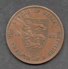 1923 Jersey 1/12 Twelfth Shilling 1923 Bronze Coin