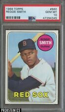 "1969 Topps #660 Reggie Smith Red Sox PSA 10 GEM MINT "" Razor Sharp """