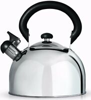 Cafe Ole Stove Top Induction Whistling Stainless Steel 3L Kettle Grunwerg HTK3