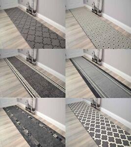 Very Long Grey Hall Floor Rugs Hallway Runner Narrow Mats Custom Made Any Length