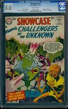 Showcase 11 CGC 5.0 OW Silver Age Key DC Comic 3rd Appearance Challengers L@@K!