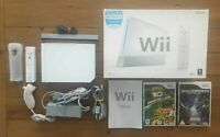 BOXED NINTENDO WII WHITE CONSOLE BUNDLE + 2 GAMES BEN 10 & TRANSFORMERS