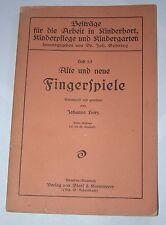 Alte Und Neue Fingerspiele - 1921 - German Grammar - Dr. Joh. Gehring - Dresden