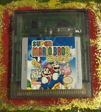 Super Mario Bros. Deluxe Nintendo Game Boy Color Clean Tested Free Ship GBC NICE