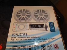 boss mov1307.6  marine stereo with 2 speakers