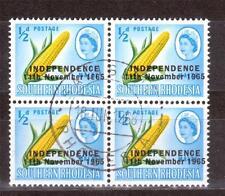 Used Block Zimbabwean Stamps (1965-Now)