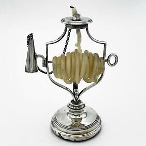 Rare 19th Century SILVER PLATE WAX JACK 17cm Tall
