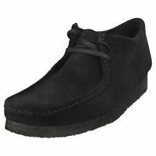 Clarks Originals Wallabee Mens Black Suede Wallabee Shoes