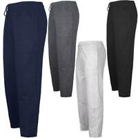 Mens Elasticated Jogging Bottoms Joggers Fleece Lined Zip Pockets Drawstring