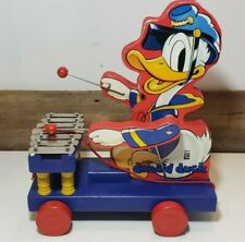 Fisher Price Donald Duck Xylophone Pull Toy 60th Anniversary Reproduction