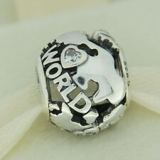 Authentic Pandora 791718CZ Around The World CZ Sterling Silver Bead Charm