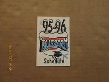 Chl Utica Blizzard Vintage Defunct Circa 95-96 Logo Hockey Pocket Schedule