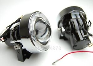"Add on 3"" White Halo Angel Eyes Bumper Projector Round Fog Light Lamp"