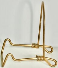 """2 1/2"""" Gold-Tone Metal Wire Easel Display Stand For Small Plate Picture Or Book"""