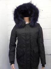 Women Ladies New Long Winter Thick Warm Padded Fur Hood Puff Parka/Coat/Jacket