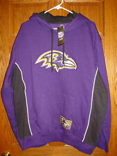 Mens L Majestic NFL Team Apparel BALTIMORE RAVENS Pullover Sweatshirt Hoodie