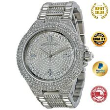 *NEW* MICHAEL KORS MK5869 SILVER CAMILLE PAVE DIAL CRYSTAL ENCRUSTED WOMEN WATCH