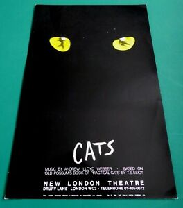 Rare Early CATS New London Theatre flyer1983 MARTI WEBB BRIAN BLESSED KIM REEDER