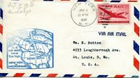 1947 FIRST AIR MAIL FROM NEW YORK TO ANCHORAGE, ALASKA ON JANUARY 1, 1947