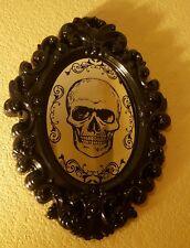 Halloween Skull faux Mirror Door Wall Prop Haunted House Decor  Scary Creepy