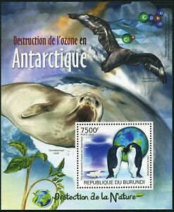 Burundi 1133 sheet,MNH. Aptenodytes forsteri penguins,2012