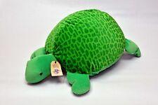 Turtle green child sit on toy soft cuddly