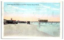 1929 Daytona Beach Fl Cars on the Beach, Fastest Auto Race in the World Postcard