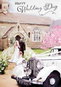 "Traditional Stylish Bridal Party ""Happy Wedding Day"" Congratulations Card"