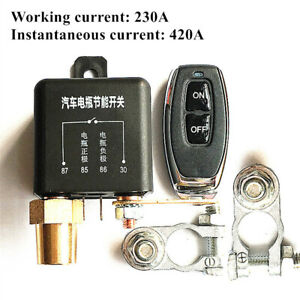 12V Battery Isolator Switch Disconnect Power Cut Off Kill Fit For Car Boat Truck
