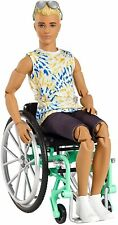 2020 Barbie Made to Move Ken Doll Wheelchair Articulated Fashionistas 167 #gwx93