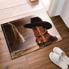 """Western Cowboy Boots Bathroom Rug Non-Slip Floor Indoor Front Door Mat 16x24"""""""