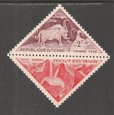 Chad #J28a (D5)  VF MINT LH - 1962 2fr Ostric / 2fr Horned Bull