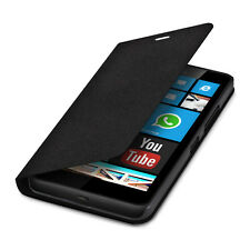 PLUS FLIP COVER CASE per Microsoft Lumia 640 XL NERO GUSCIO PROTETTIVO ASTUCCIO