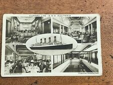 early 1900s cunard line r.m.s. aquitania ( ship views )