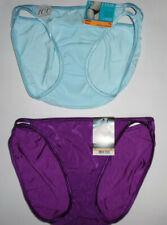 2 Vanity Fair String Bikini Panty Set Illumination 7 L 18108 Sexy Purple Blue