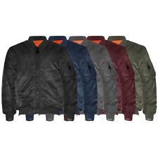Men's Jacket Premium Reversible Padded Water Resistant Flight Bomber Outerwear