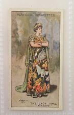 Lady Jane Patience Gilbert and Sullivan 1925 John Player Cigarette Card (B74)