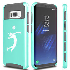 For Samsung S6 S7 Edge S8 + Dual Shockproof Hard Case Female Volleyball Player