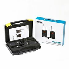 Microfono Alta Qualità BOYA BY-WM6 a clip tipo lavalier wireless radio UHF