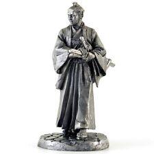 Samurai, Muromachi, 1333-1573. Tin toy soldier. 54mm miniature metal sculpture