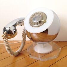 Modern Space Age Lucite Chrome ITT Sphere Telephone Weltron Eames Mid Century