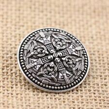 Silver Viking Shield Brooch Pin Medieval Jewellery Mens Womens Celtic Norsemen