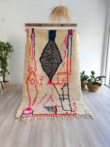 Vintage Moroccan rug, Handmade wool rug, Authentic Beni Ourain rug, wool rug