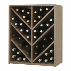 Malbec Self Assembly - 42 Bottle Melamine Wine Rack Kit - Rustic Oak Effect