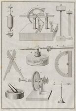 SCIENTIFIC INSTRUMENTS. instrumens d'Histoire naturelle II 1834 old print