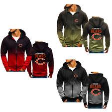 Chicago Bears Gradient Hoodie Splash-Ink Sweatshirt Sports Jacket Fan's Gift