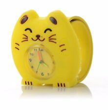 Quality Yellow Cat Girls Boys Kids Wrist Watch Easy Strap Slap wristwatch QTY